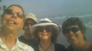 Bob, Wayne, Cecile, Sherry at Oceanside, CA