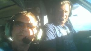 Bob and Mark in Twin Otter at Perris Skydiving Center.