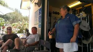 Wine tasting with Marilyn, owner Hoof and Roses Vineyard