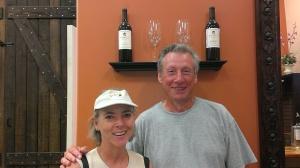 Carolyn and Mike at Kohill Vineyard
