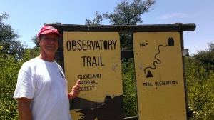 Bob finishes hike to Mount Palomar Observatory