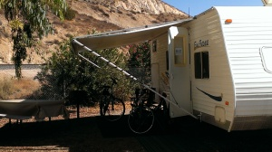 Campsite at Thousand Trails RV Park in Soledad Canyon, CA