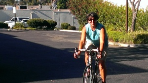 Sherry on her new road bike!