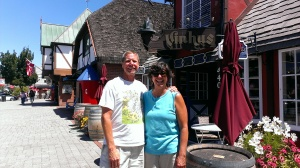 Bob and Sherry in Solvang, CA