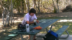Sherry at River Park Campground, Lompoc, CA