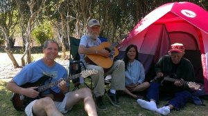 Bob, Kenny, Rosie, and Tom at River Park RV Campground, Lompoc, CA