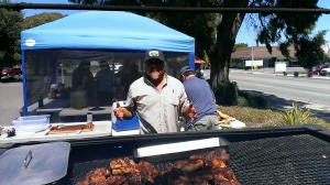 Albert BBQ'ing for New Hope Church Fundraiser, Lompoc, CA