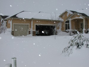 House during Blizzard 2003