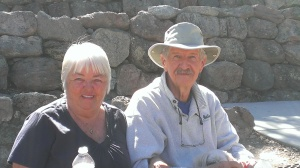 Beverly and Jim in Pinnacles National Park, CA