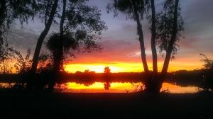 Sunset at Lake Minden in Nicolaus, CA