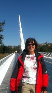 Sherry at Sundial Bridge, Redding, CA