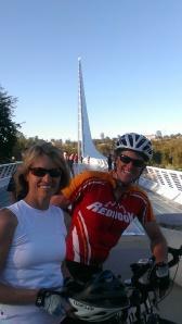 Tom and Verna at Sundial Bridge in Redding, CA