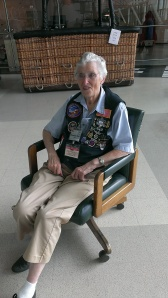 Rosemary sharing story at Evergreen Aviation Museum in McMinnville OR