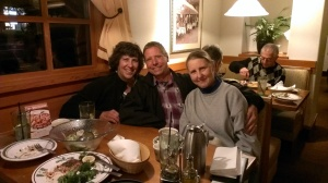 Sherry, Bob, and Susan at Olive Garden