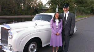 2013-10-13 18.30.11 Vickie and Rick Davies and their 1956 Bentley in Clackamas OR