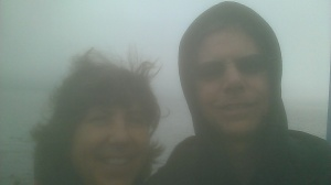 Sherry and Bob in foggy Canada