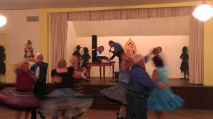Square dancing with the Hay Shakers in Seaside, OR
