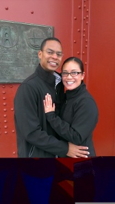 Jewell and Kari after Marriage Proposal on Golden Gate Bridge