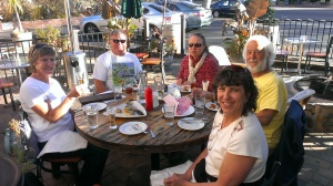 Ellen, Tim, Debbie, Frank, Sherry in Solvang, CA