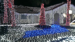 Christmas lights in Cathedral City, CA