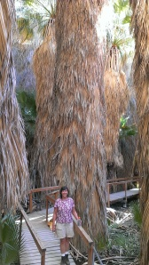 Sherry entering Coachella Valley Preserve, Palm Desert, CA
