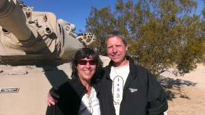 Sherry and Bob at General Patton Museum, CA
