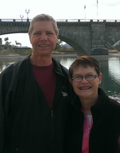 Bob and Peg at London Bridge