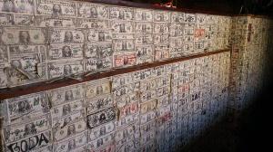 Dollar Bill Wall in Tortilla Flats, AZ
