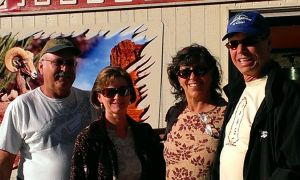 Mike, Belinda, Sherry, Bob at Canyon Lake, AZ