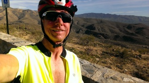 Bob bicycling up Mount Lemmon