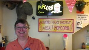 Valerie at Uncle Bob's Popcorn