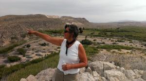 Sherry hiking Big Bend National Park TX