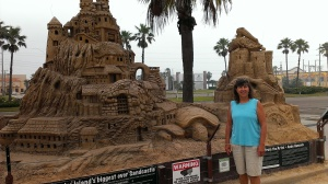 Sandcastles are popular on South Padres Island