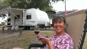 Sherry enjoying life at Lake Corpus Christi State Park, TX