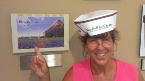 Sherry at Blue Bell Creamery in Brenham TX