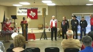WW II veteran speaking on Veterans Day