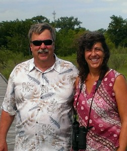Jeb and Sherry at Texas swamps