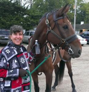 Sherry loves horses!