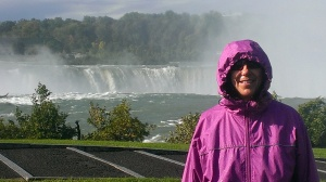 Sherry in Niagara Falls mist