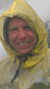 Bob getting drenched at Niagara Falls