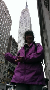 Sherry in front of Empire State Building