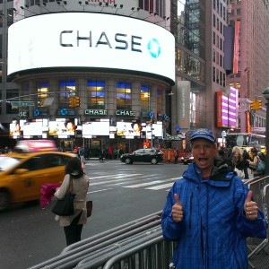 Bob at Times Square in NYC