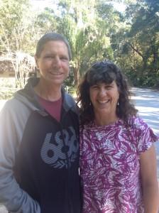 Bob and Sherry enjoying Hanna State Park, FL