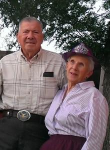 Gene and Bev celebrate her 85th