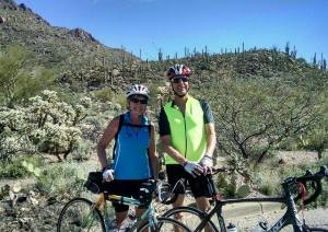 Bicycle riding with Ellen west of Tucson