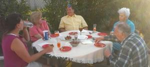 Sherry, Trudy, Birthday boy Terry, Bev, Gene