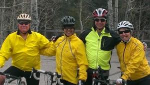 Tim, Sherry, Bob, Ellen prepare to descend Mt. Lemmon