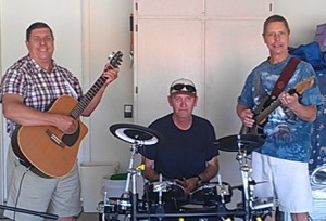 Terry, Harry, and Bob in their Garage Band