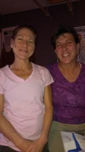 Dana and Sherry after massage
