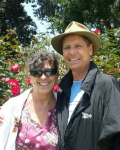 Sherry and Bob in The Rose Garden at Los Angeles County Museum of Natural History